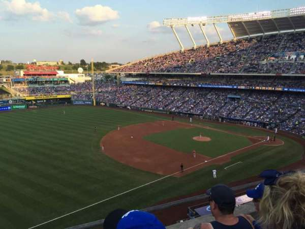 Kauffman Stadium, section: 405, row: C, seat: 5-7