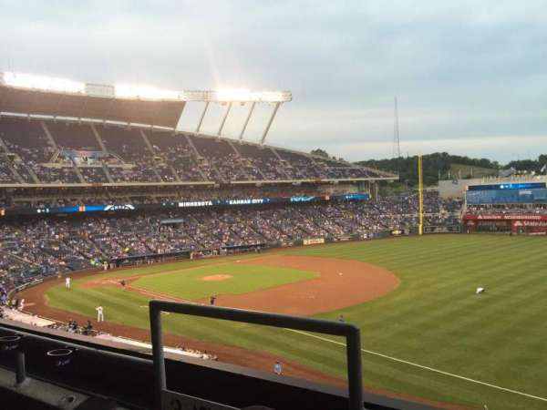 Kauffman Stadium, section: 323, row: B, seat: 3-4