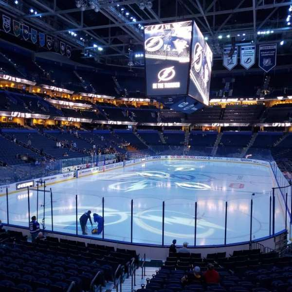 Amalie Arena, section: 122, row: U, seat: 25