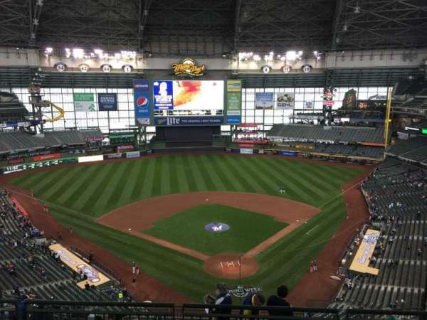Miller Park, section: 423, row: 12, seat: 9
