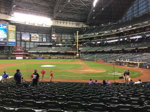 Miller Park, section: 120, row: 18, seat: 7