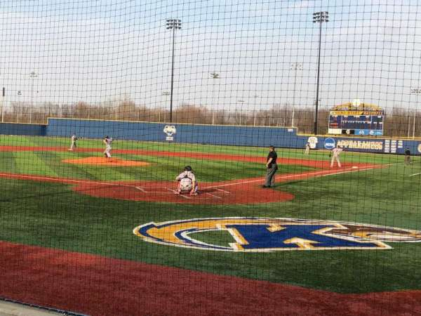 Schoonover stadium, section: A, row: 4, seat: 3