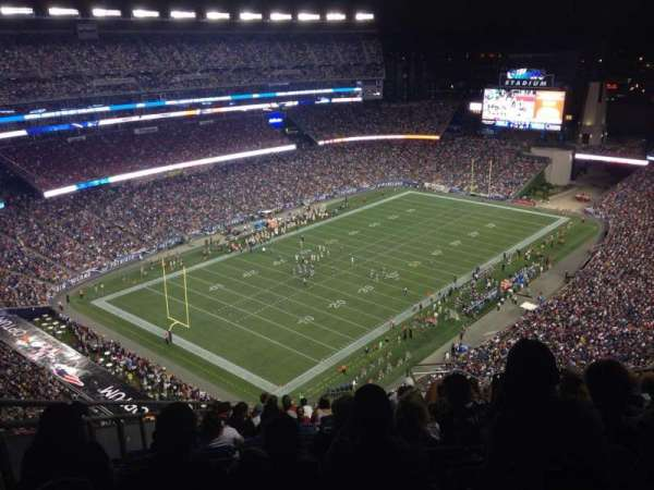 Gillette Stadium, section: 318, row: 24, seat: 9
