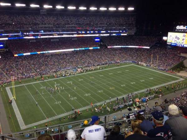 Gillette Stadium, section: 313, row: 7, seat: 16