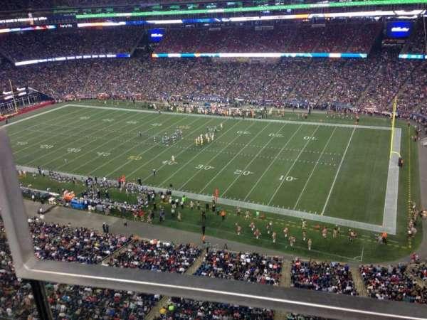 Gillette Stadium, section: 304, row: 7, seat: 12