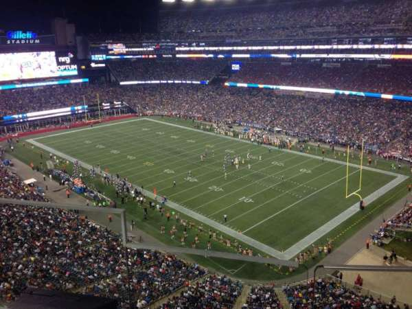 Gillette Stadium, section: 301, row: 5, seat: 20