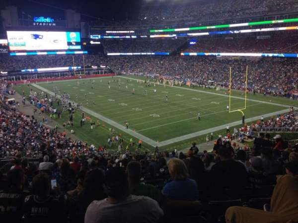 Gillette Stadium, section: 202, row: 18, seat: 9