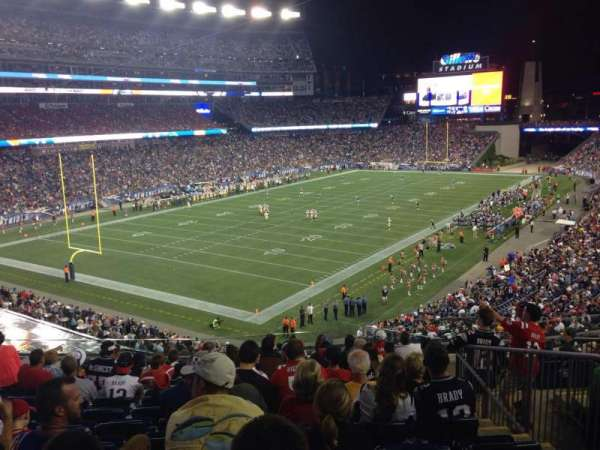 Gillette Stadium, section: 217, row: 12, seat: 6