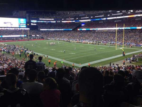 Gillette Stadium, section: 102, row: 38, seat: 22