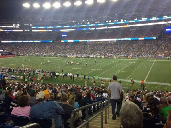 Gillette Stadium, section: 105, row: 34, seat: 16
