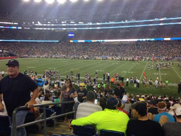 Gillette Stadium, section: 107, row: 26, seat: 20
