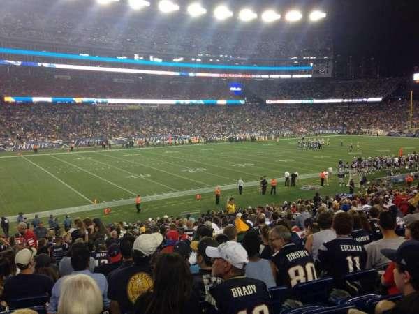 Gillette Stadium, section: 114, row: 28, seat: 15