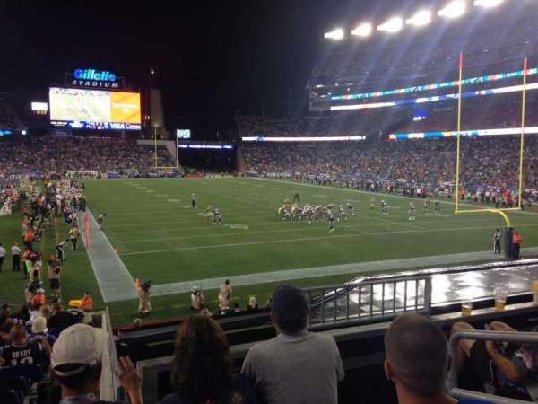 Gillette Stadium, section: 123, row: 21, seat: 3