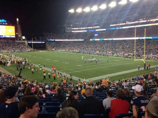 Gillette Stadium, section: 124, row: 29, seat: 15