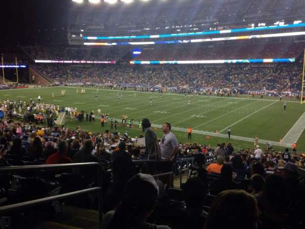 Gillette Stadium, section: 126, row: 36, seat: 24