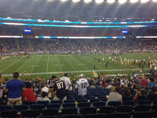 Gillette Stadium, section: 134, row: 32, seat: 11