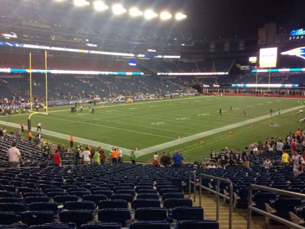 Gillette Stadium, section: 139, row: 29, seat: 2