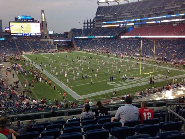 Gillette Stadium, section: 223, row: 8, seat: 10