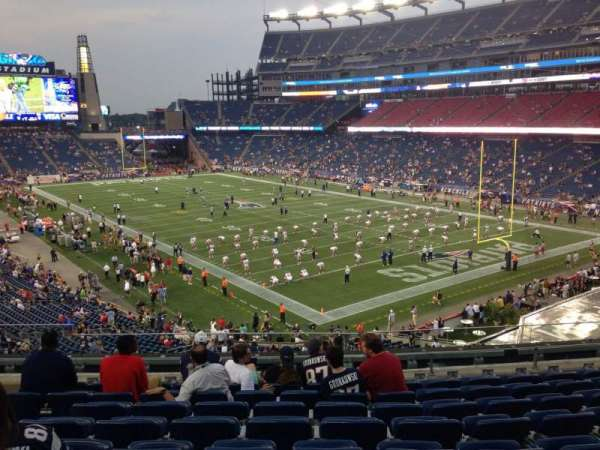Gillette Stadium, section: 224, row: 9, seat: 12