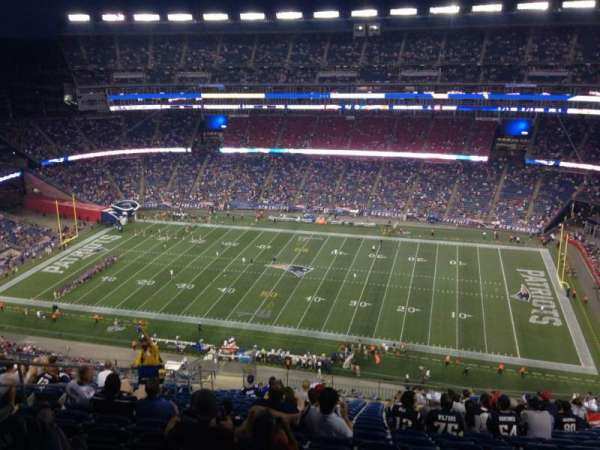 Gillette Stadium, section: 329, row: 25, seat: 17