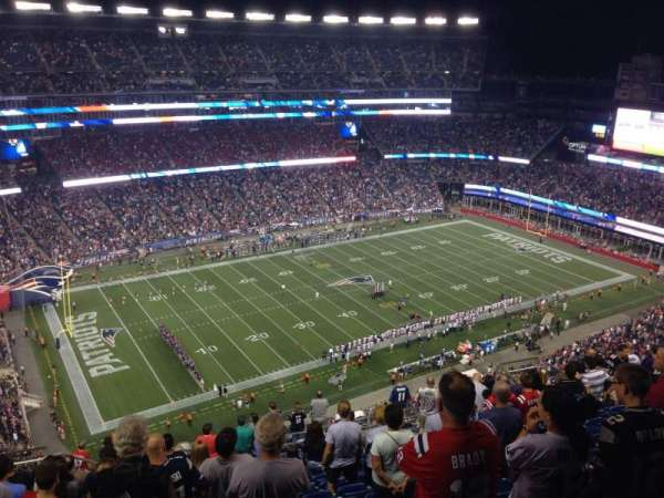 Gillette Stadium, section: 336, row: 21, seat: 20