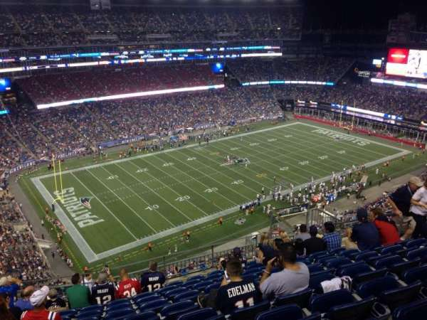 Gillette Stadium, section: 337, row: 17, seat: 12