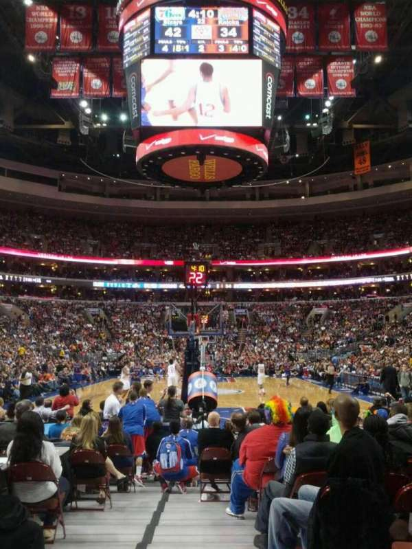 Wells Fargo Center, section: 119, row: 2, seat: 5