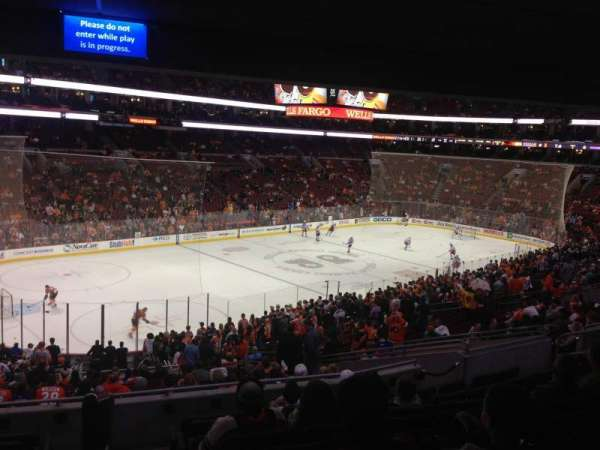 Wells Fargo Center, section: Club Box 22, row: 1, seat: 1