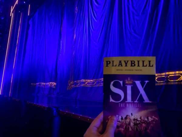 Brooks Atkinson Theatre, section: Orchestra R, row: AA, seat: 6