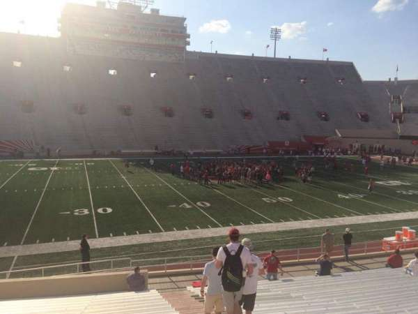 Memorial Stadium (Indiana), section: 27, row: 24, seat: 103