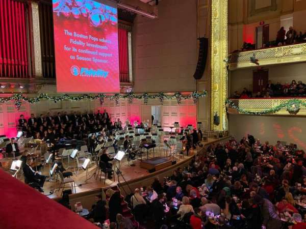Symphony Hall, Boston, section: 1BL, row: A, seat: 15