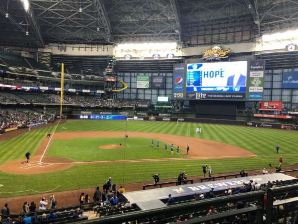 Miller Park, section: 215, row: 2, seat: 10