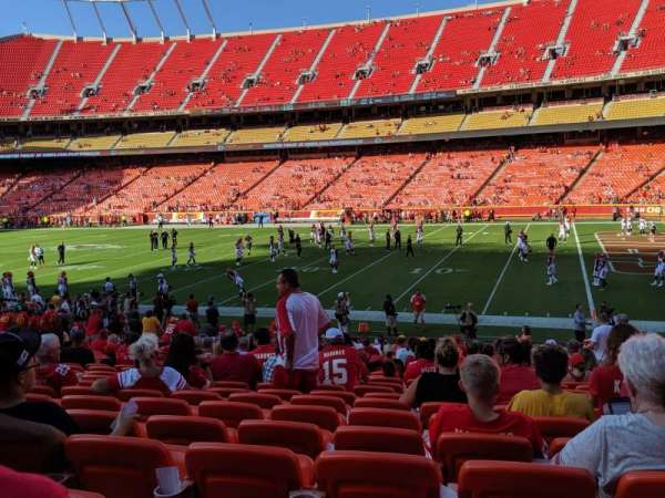 Arrowhead Stadium, section: 116, row: 23, seat: 8