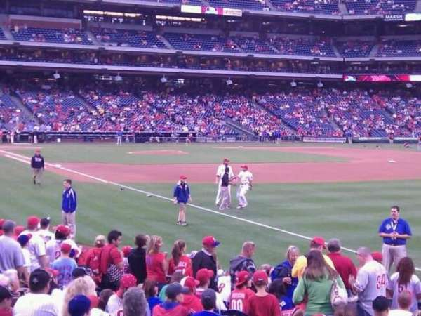 Citizens Bank Park, section: 109, row: 16, seat: 15