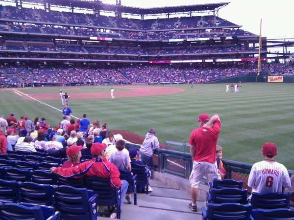 Citizens Bank Park, section: 108, row: 17, seat: 18