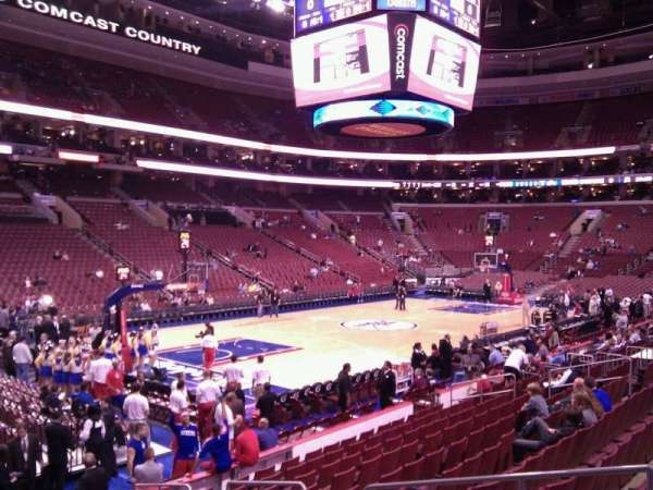 Wells Fargo Center, section: 122, row: 12, seat: 6