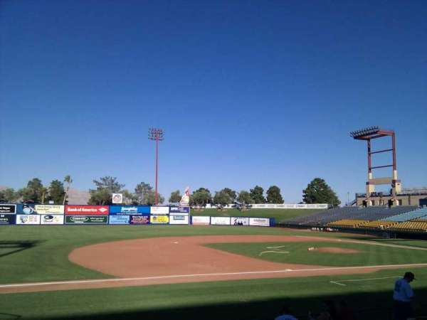 Cashman Field, section: 5, row: k, seat: 16