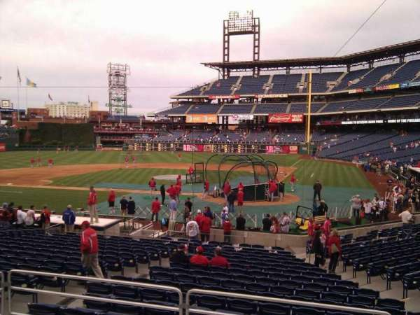 Citizens Bank Park, section: 127, row: 21, seat: 1