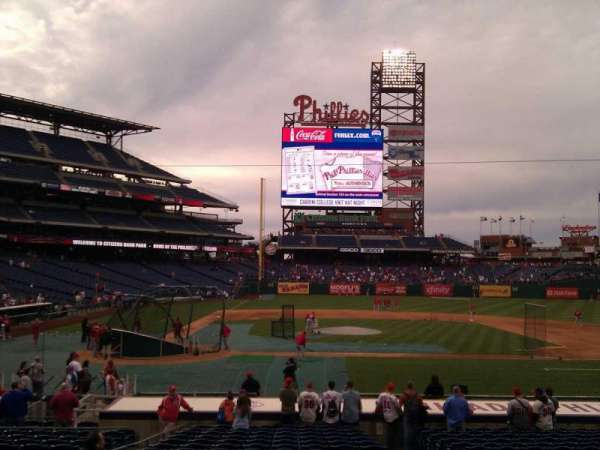 Citizens Bank Park, section: 118, row: 19, seat: 4