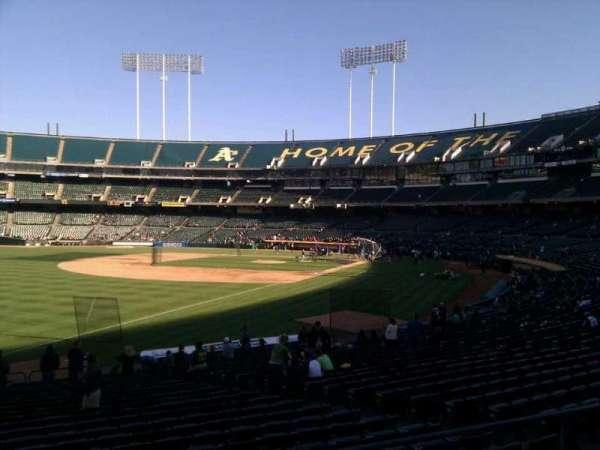 Oakland Coliseum, section: 129, row: 24, seat: 12