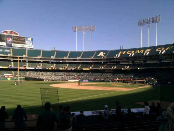Oakland Coliseum, section: 129, row: 13, seat: 3
