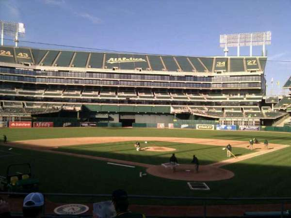 Oakland Coliseum, section: 118, row: 19, seat: 5