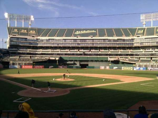 Oakland Coliseum, section: 116, row: 18, seat: 12