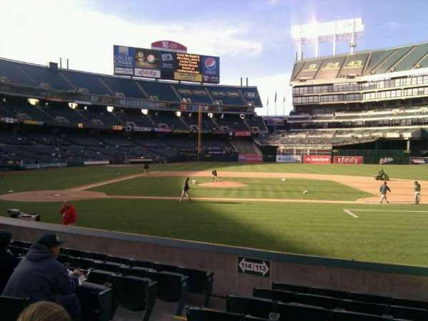 Oakland Coliseum, section: 113, row: 12, seat: 13