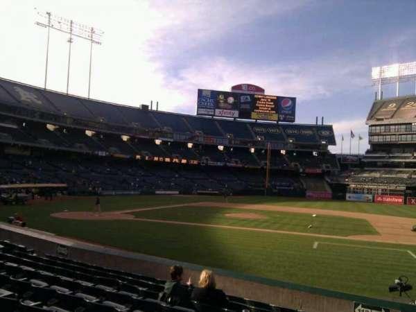 Oakland Coliseum, section: 112, row: 13, seat: 15