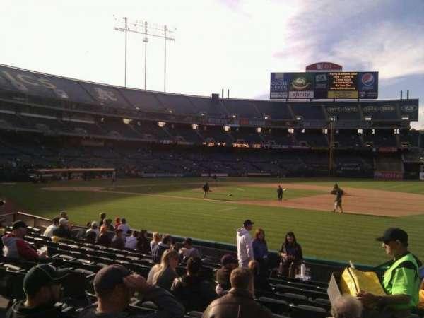 Oakland Coliseum, section: 109, row: 11, seat: 8