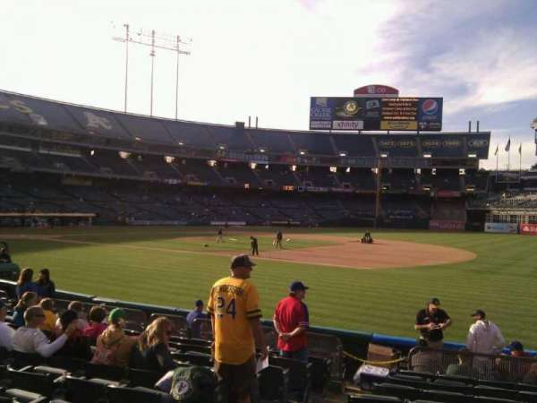 Oakland Coliseum, section: 109, row: 11, seat: 13