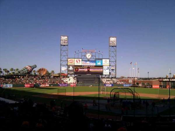 Oracle Park, section: 117, row: 26, seat: 9