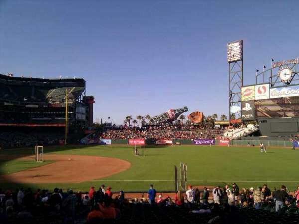 AT&T Park, section: 105, row: 25, seat: 13