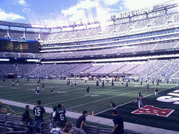 MetLife Stadium, section: 133, row: 8, seat: 11